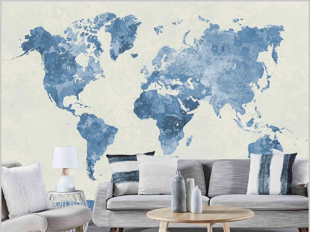 背景墙|装饰画 电视背景墙 手绘电视背景墙 > 北欧水墨高清复古世界