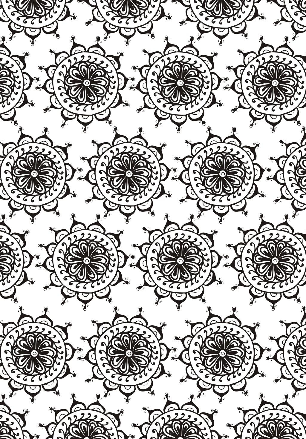 欧式花纹植物花卉简笔画图片设计素材_高清其他模板()