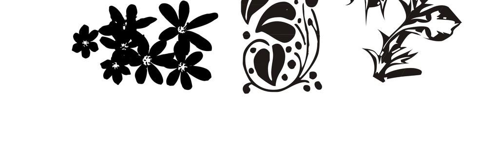 植物花卉简笔画欧式花纹