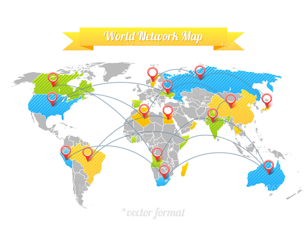 精美世界地图设计