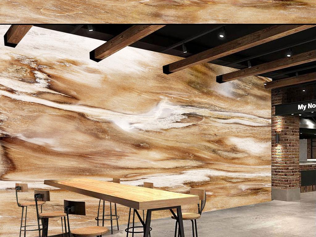 62新中式木纹唯美大气背景墙下载工装