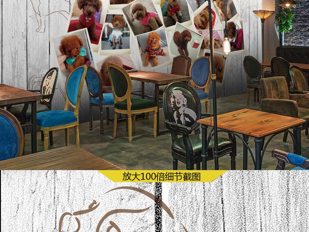 宠物照片墙木板背景墙(图片编号:16037184)