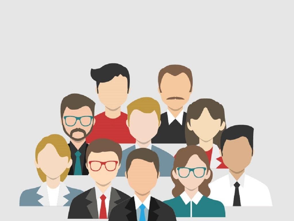 商务办公团队人物头像矢量背景