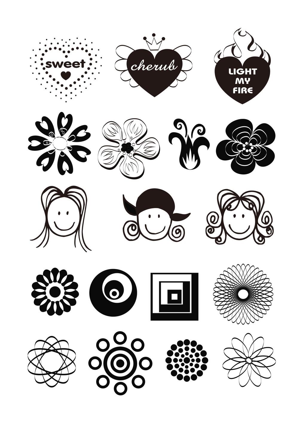 > 植物花卉简笔画装饰画   图片编号:26991874 文件格式:其他 颜色
