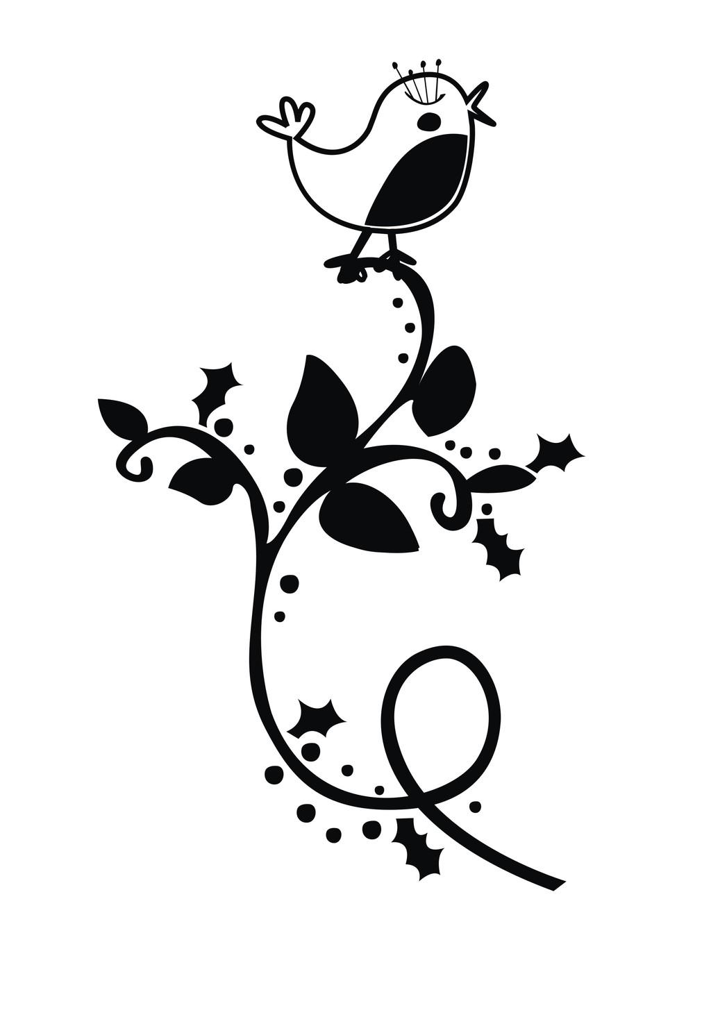卡通动物简笔画鸟植物下载 卡通动物简笔画鸟植物图片素材其他格式模