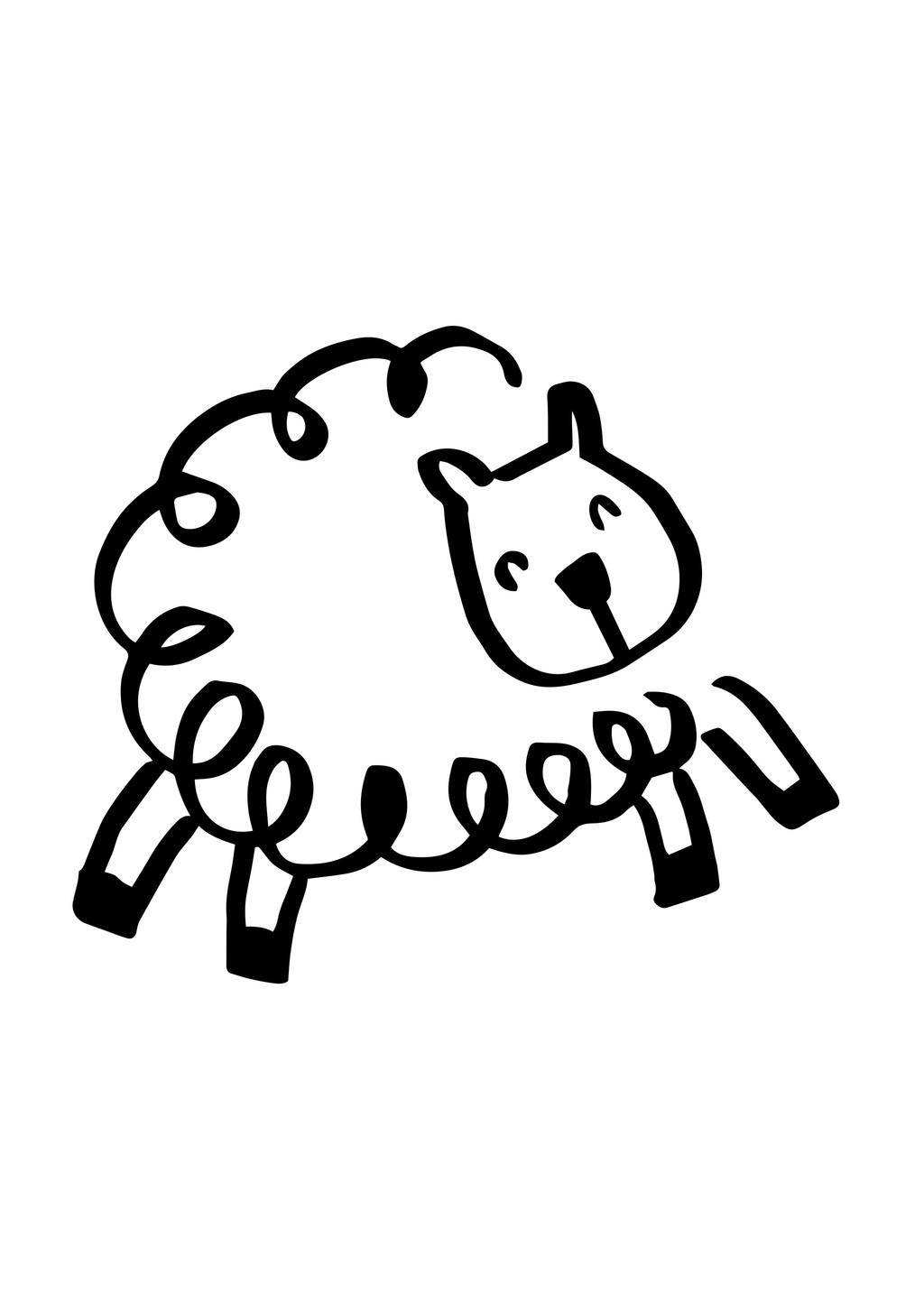 卡通动物绵羊简笔画下载 卡通动物绵羊简笔画图片素材其他格式模板
