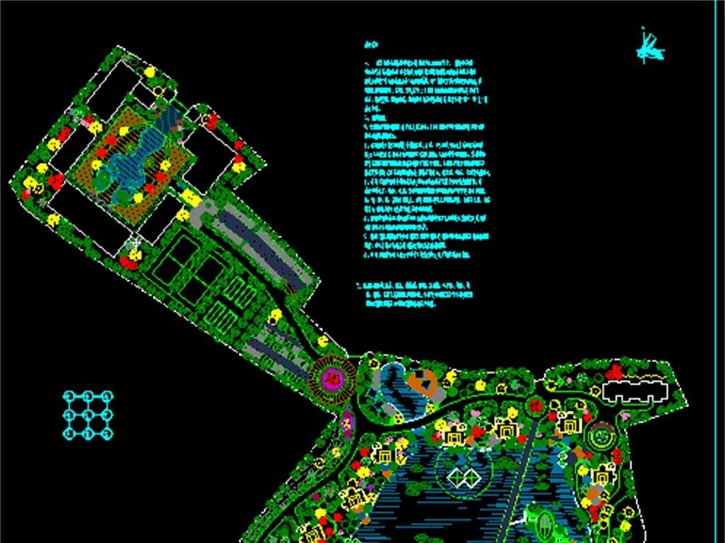 养殖场绿化景观CAD总平面图图片
