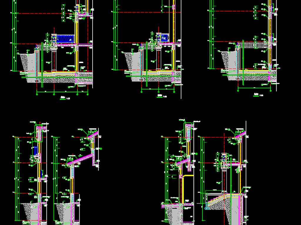 二层别墅自建房cad施工图