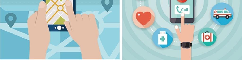 彩色卡通手机app应用矢量背景