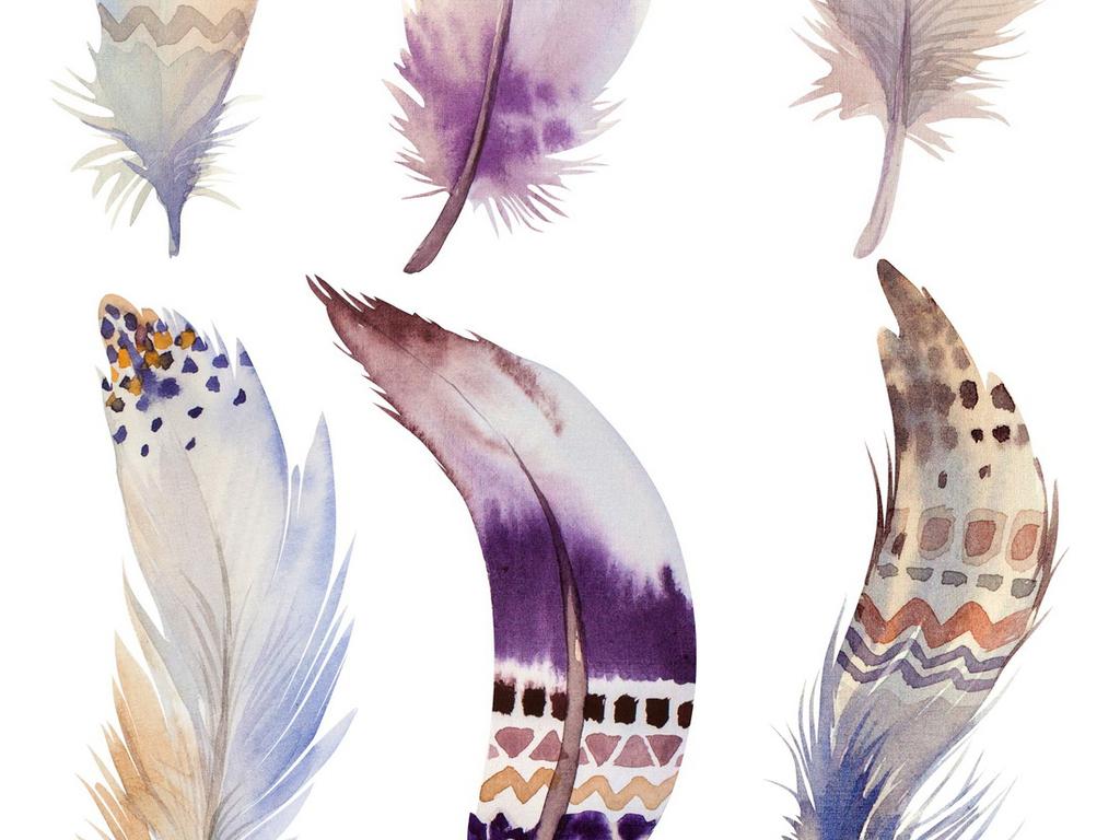 唯美手绘高清素材鸟毛主席毛毛笔笔刷毛笔画吉祥鸟