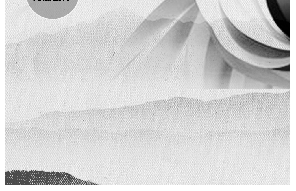 动物狼手绘极简装饰无框画壁画背景设计