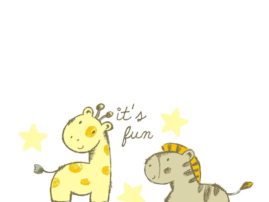 卡通动物图案长颈鹿(图片编号:16040643)_插画 元素