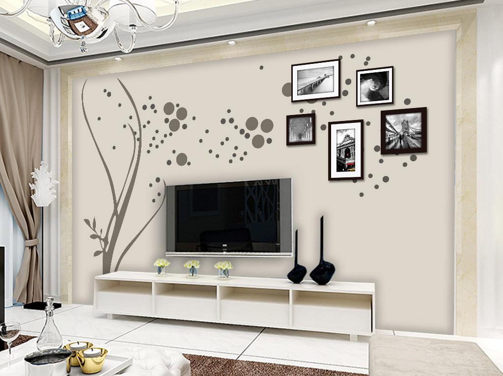 背景墙|装饰画 电视背景墙 现代简约电视背景墙 > 现代简约手绘花纹相