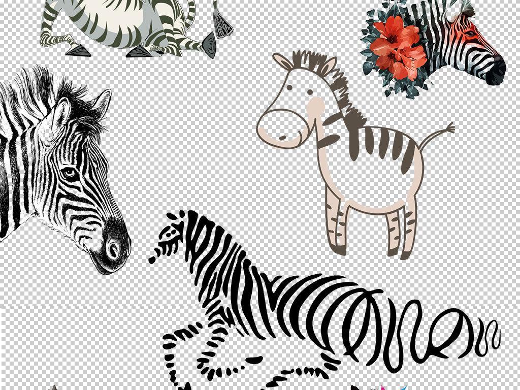 斑马                                  斑马图片斑马头像手绘斑马