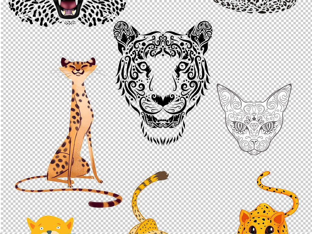 卡通豹子动物图片海报素材