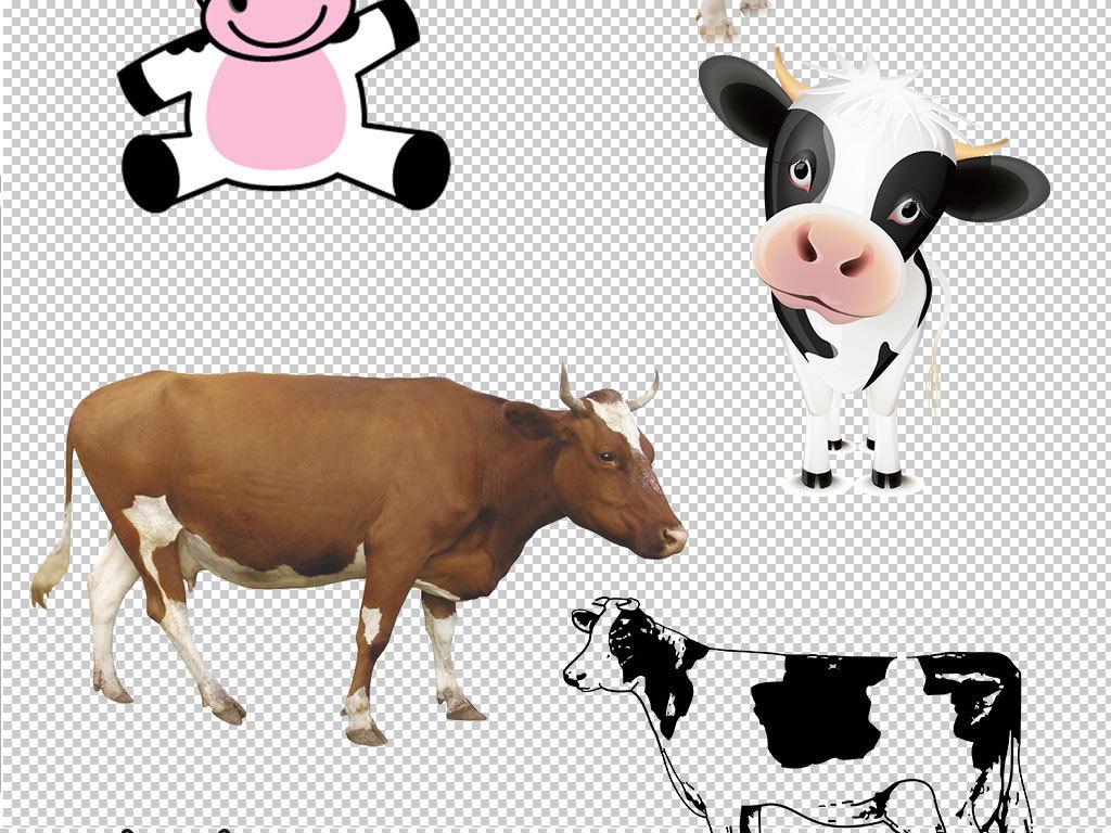 卡通奶牛动物图片海报素材
