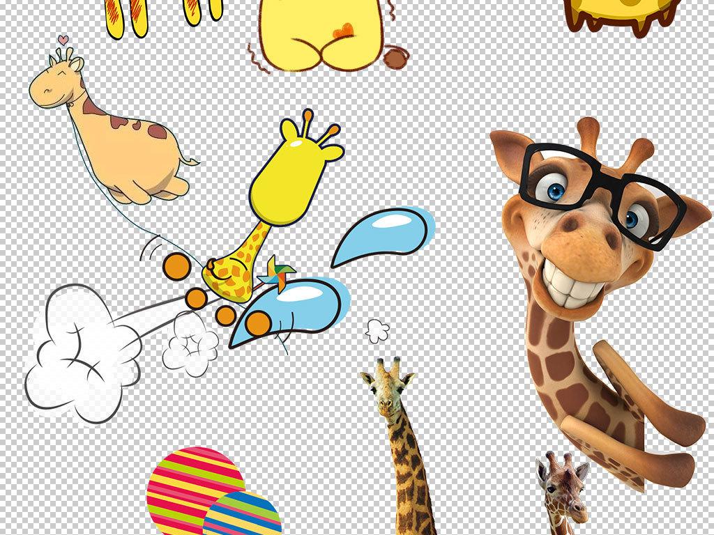 动物公园陆地动物动物插画动物造型动物园设计元素ps海报我图网图库