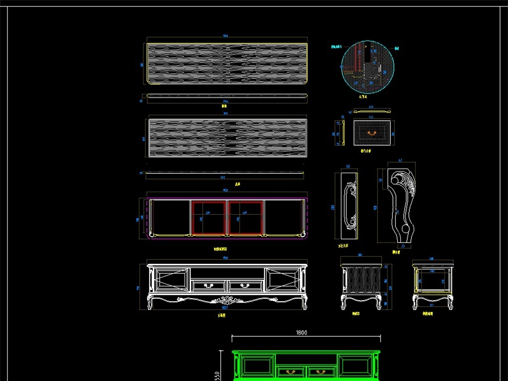 我图网提供精品流行各类家具CAD设计图纸素材下载,作品模板源文件可以编辑替换,设计作品简介: 各类家具CAD设计图纸,,使用软件为 AutoCAD 2006(.dwg) 电视柜 鞋柜 梳妆台 柜子图纸 整木家具 家居装饰设计 柜子节点祥图 各类家具CAD大样图 施工图 设计方案 结构示意图 组装图 立面图 剖面图 安装图 平面布置图 样式 家具设计 图纸 家具设计图纸 各类