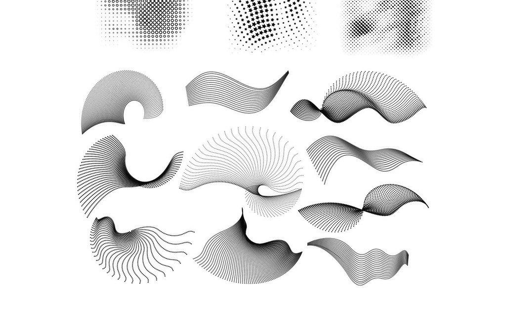 手绘线条图像发型设计