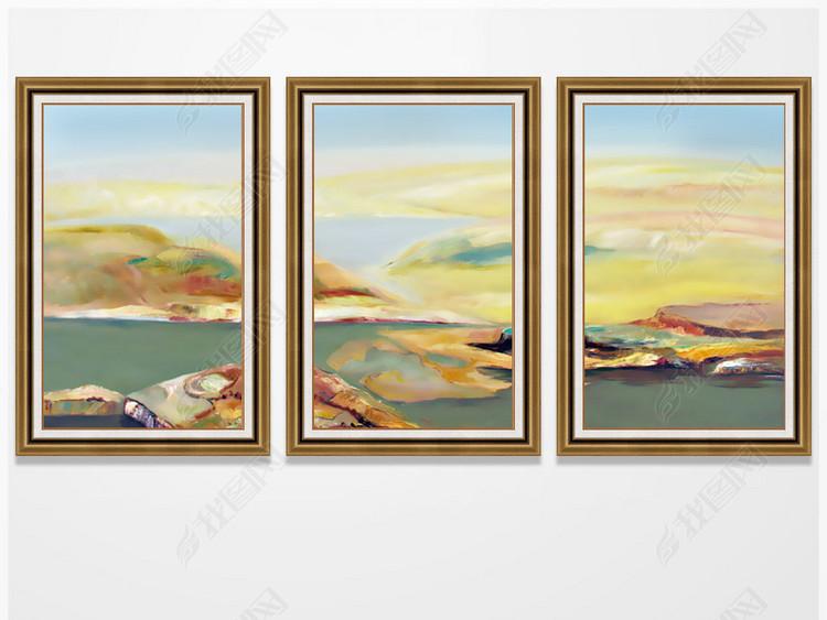 新中式抽象山水卧室装饰画挂画