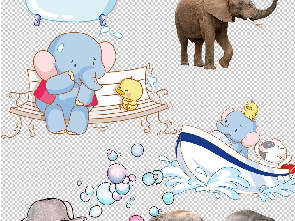 卡通大象动物图片海报素材