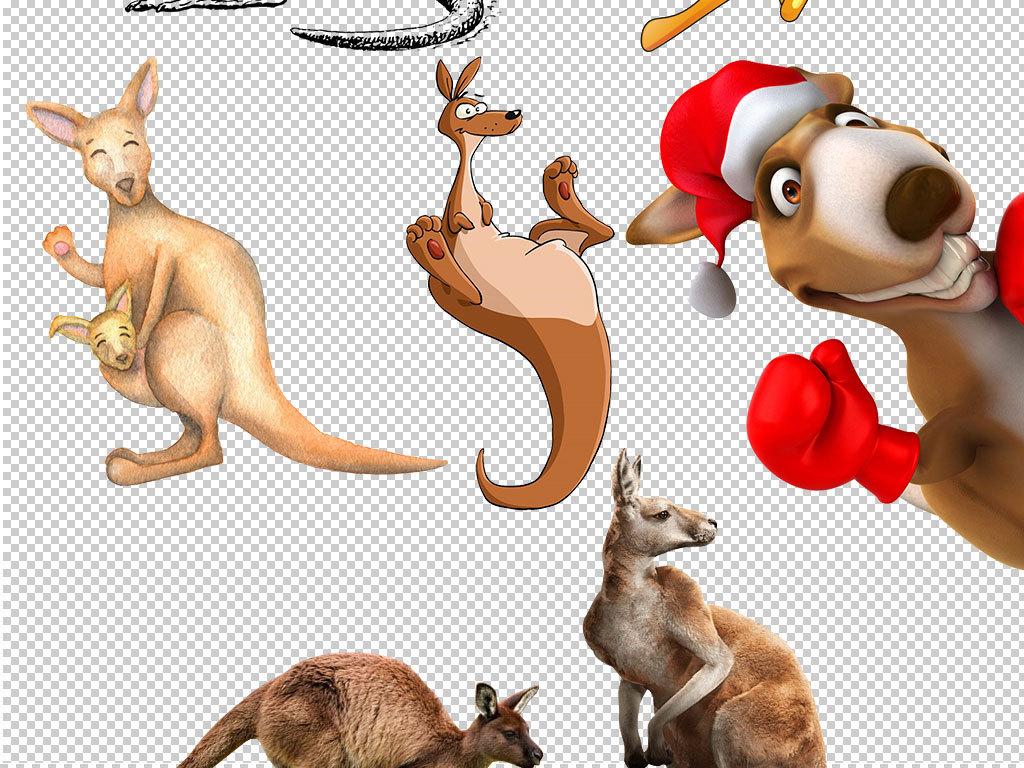卡通袋鼠动物图片海报素材