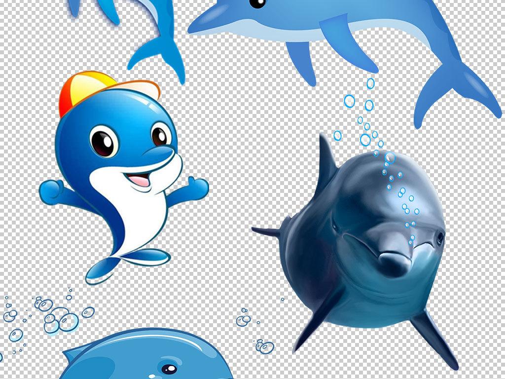 卡通海豚动物图片海报素材