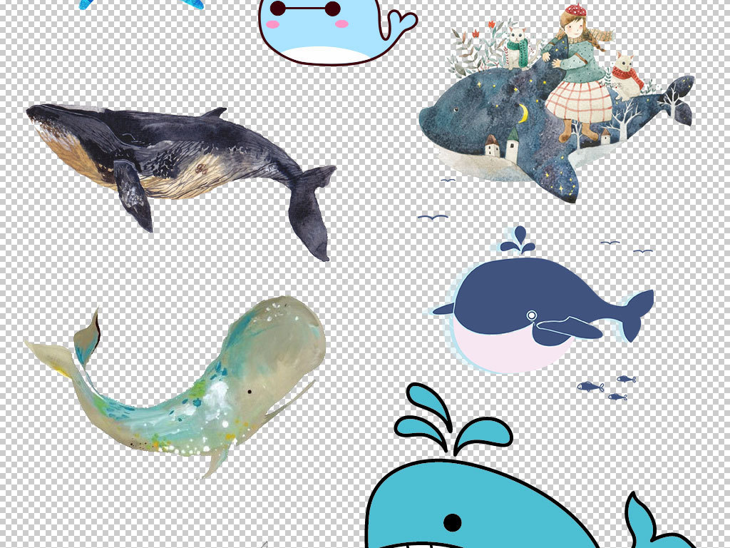 设计元素 背景素材 其他 > 卡通鲸鱼动物图片海报素材  版权图片 分享