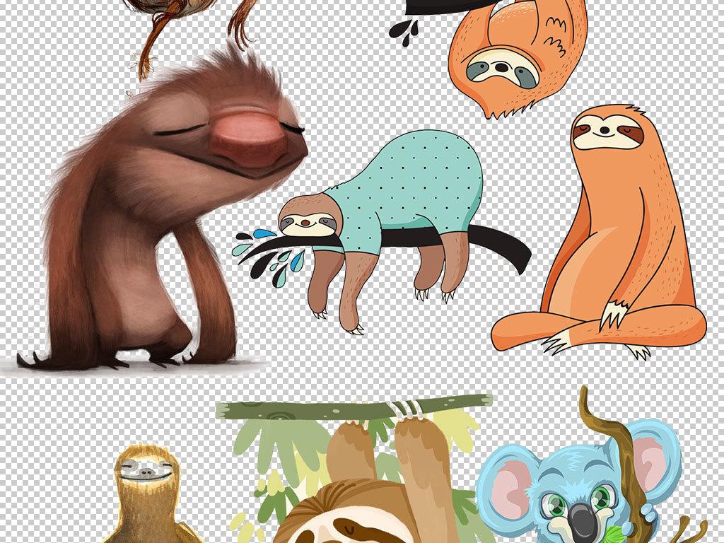 卡通树懒动物图片海报素材