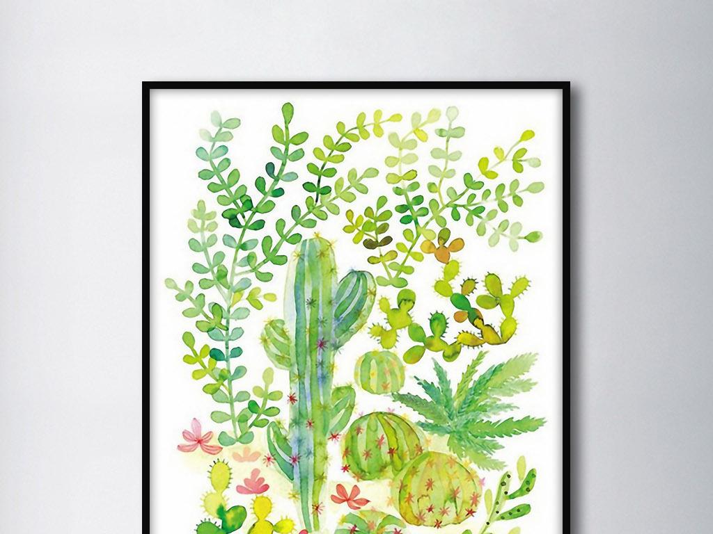 画欧式手绘现代欧式现代手绘小清新绿植psd绿植名片绿植logo绿植标志
