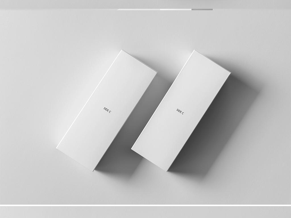 mockup智能贴图纸盒展示模型