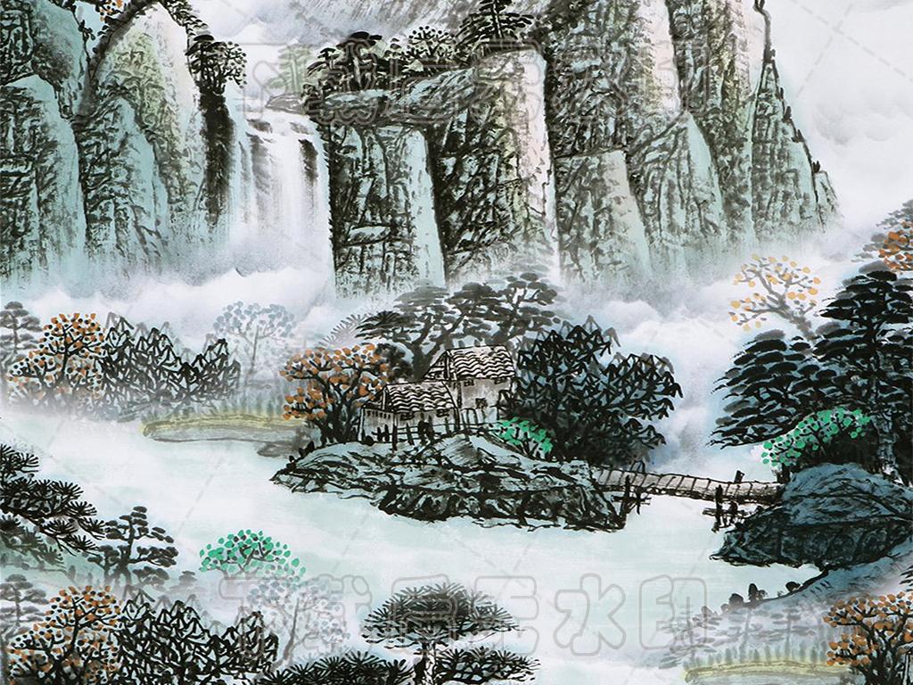 大型水墨山水壁画