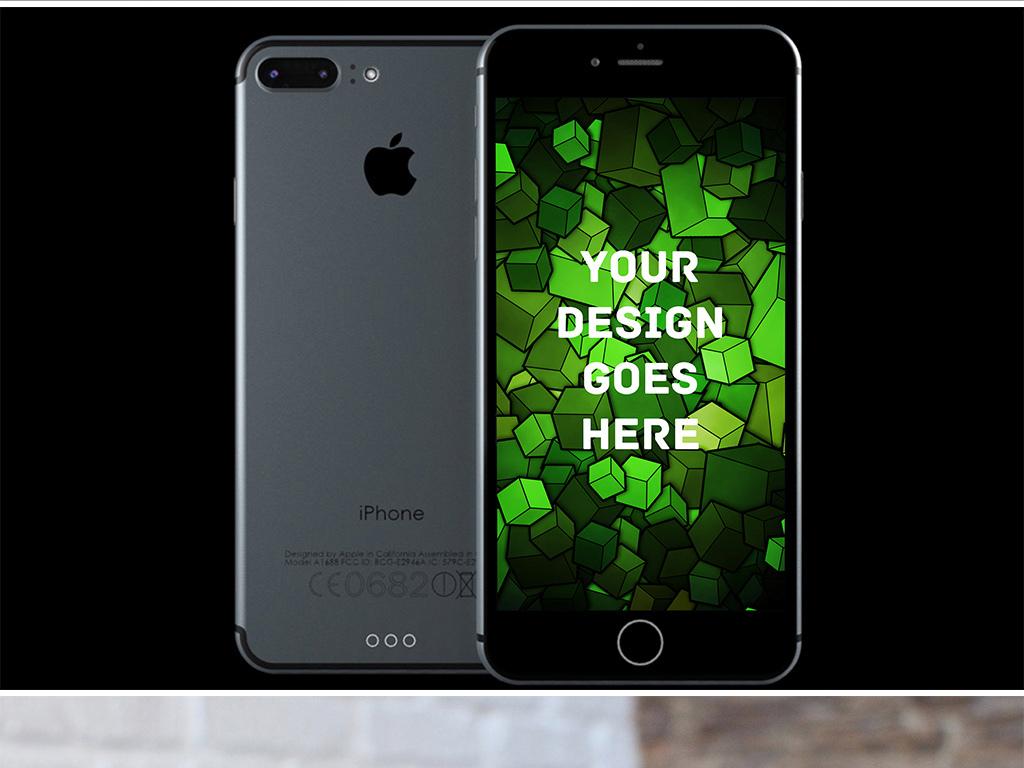 Iphone7苹果手机UI样机图片下载psd素材 移动应用样机