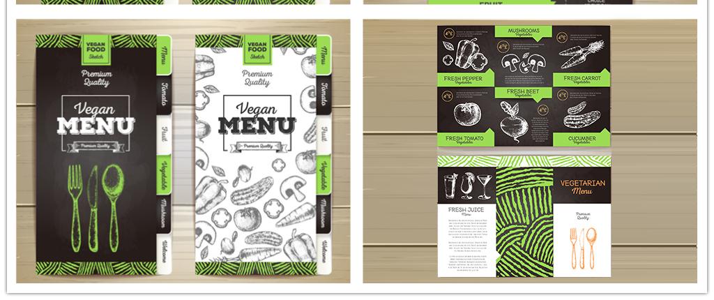 手绘风格菜谱风格菜单设计模板餐厅菜单设计咖啡厅菜单设计酒店菜单