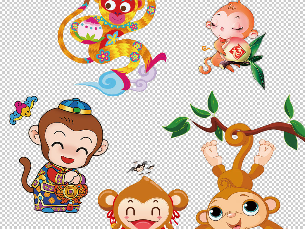 卡通猴子动物图片海报素材