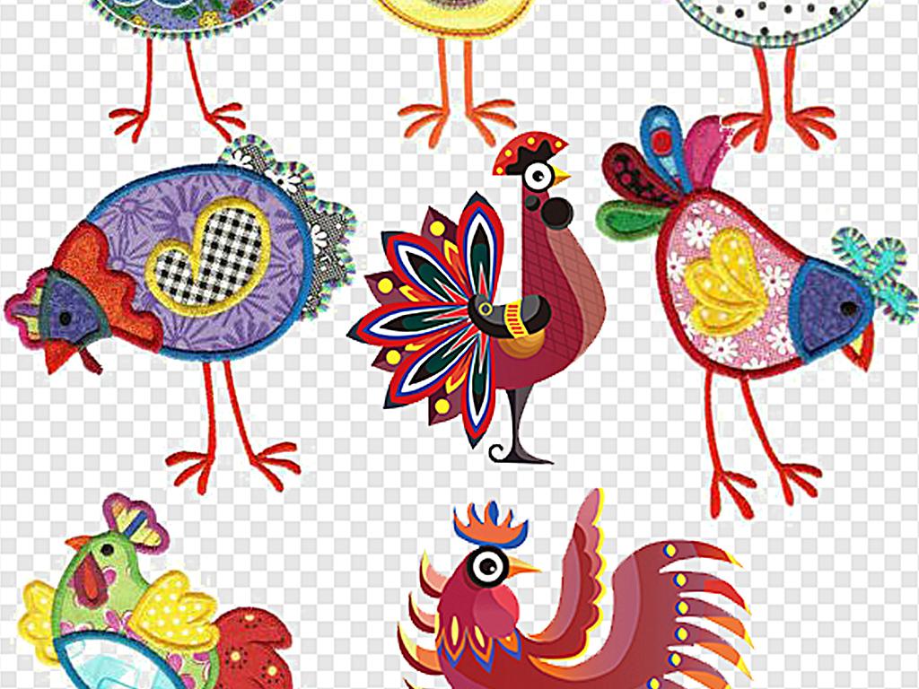鸡年小鸡素材鸡年卡通图案素材