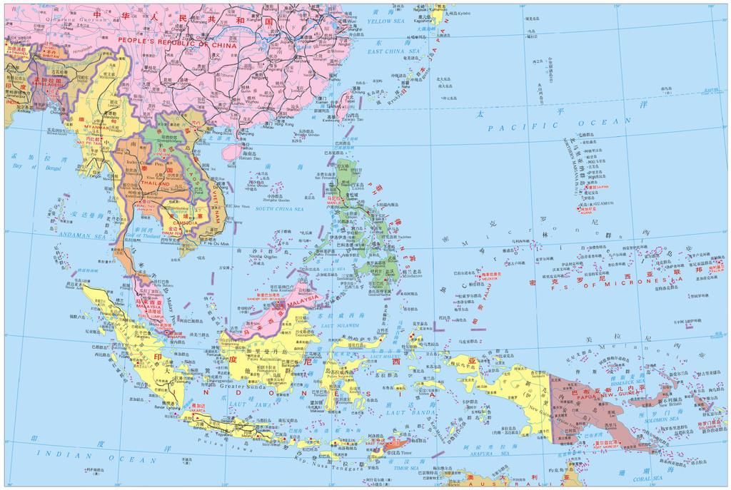 东南亚地区地图