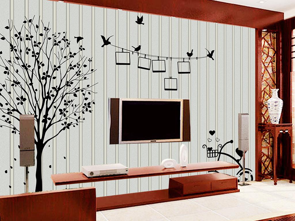 墙纸壁画自行车路灯凹凸背景抽象黑白抽象背景电视图片