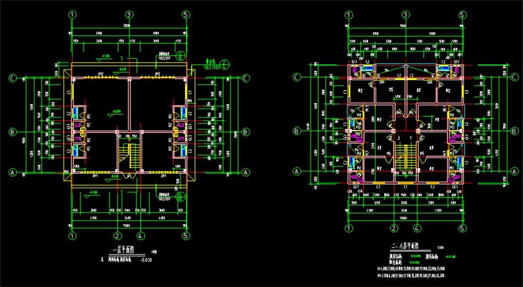 cad图库 室内设计cad图库 cad图纸 > 民房自建房建筑施工cad设计图