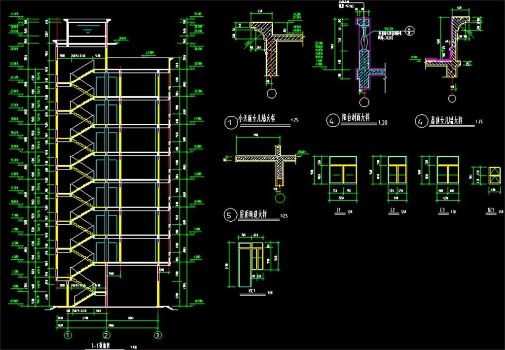 自建房建筑施工cad设计图