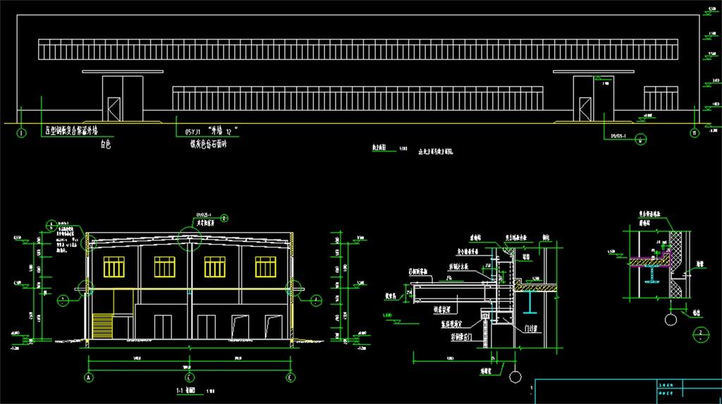 我图网提供独家原创二层钢结构厂房CAD建筑施工图正版素材下载, 此素材为原创版权图片,图片,作品体积为,是设计师QQ6A6A6E5E在2017-01-09 13:41:56上传, 素材尺寸/像素为-高清品质图片-分辨率为, 颜色模式为,所属CAD图纸分类,此原创格式素材图片已被下载3次,被收藏79次,作品模板源文件下载后可在本地用软件 AutoCAD 2006(.