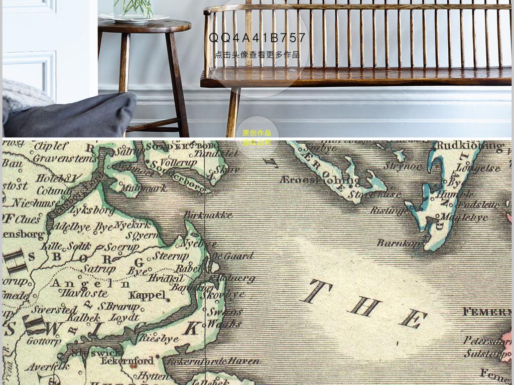 海船手绘高清时尚灯塔酒店