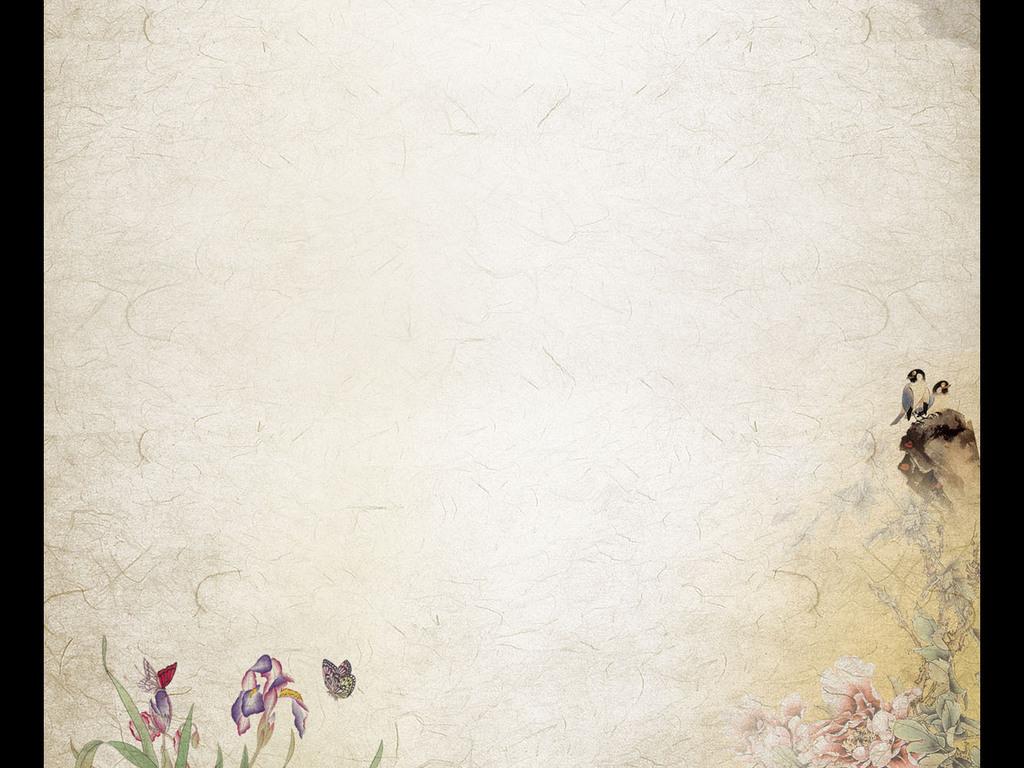 我图网提供精品流行中国风水墨信纸作文纸小报简历国画古风背景素材图片