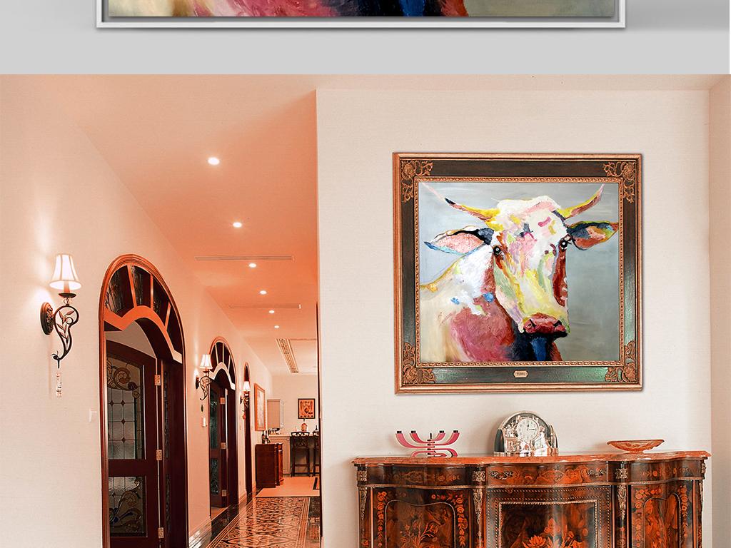 背景墙|装饰画 油画 其他油画图片