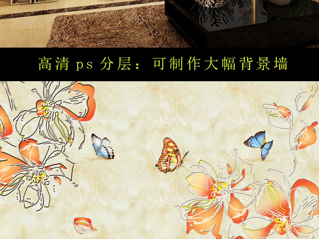 手绘古代美女玫瑰花 壁纸