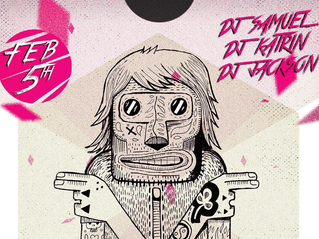 现代简约创意手绘插画活动宣传海报模板