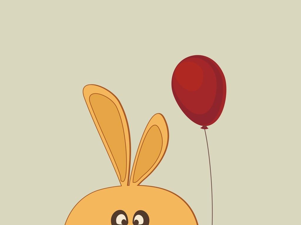 卡通动物卡通兔子卡通图案