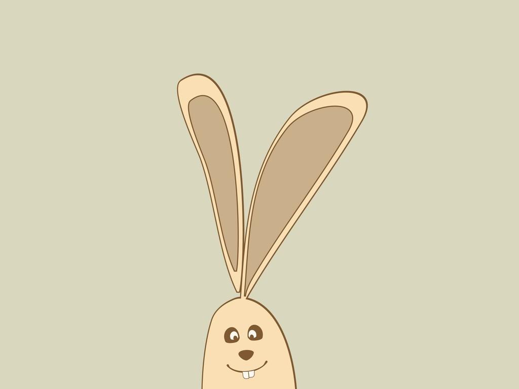 卡通动物兔子卡通图案
