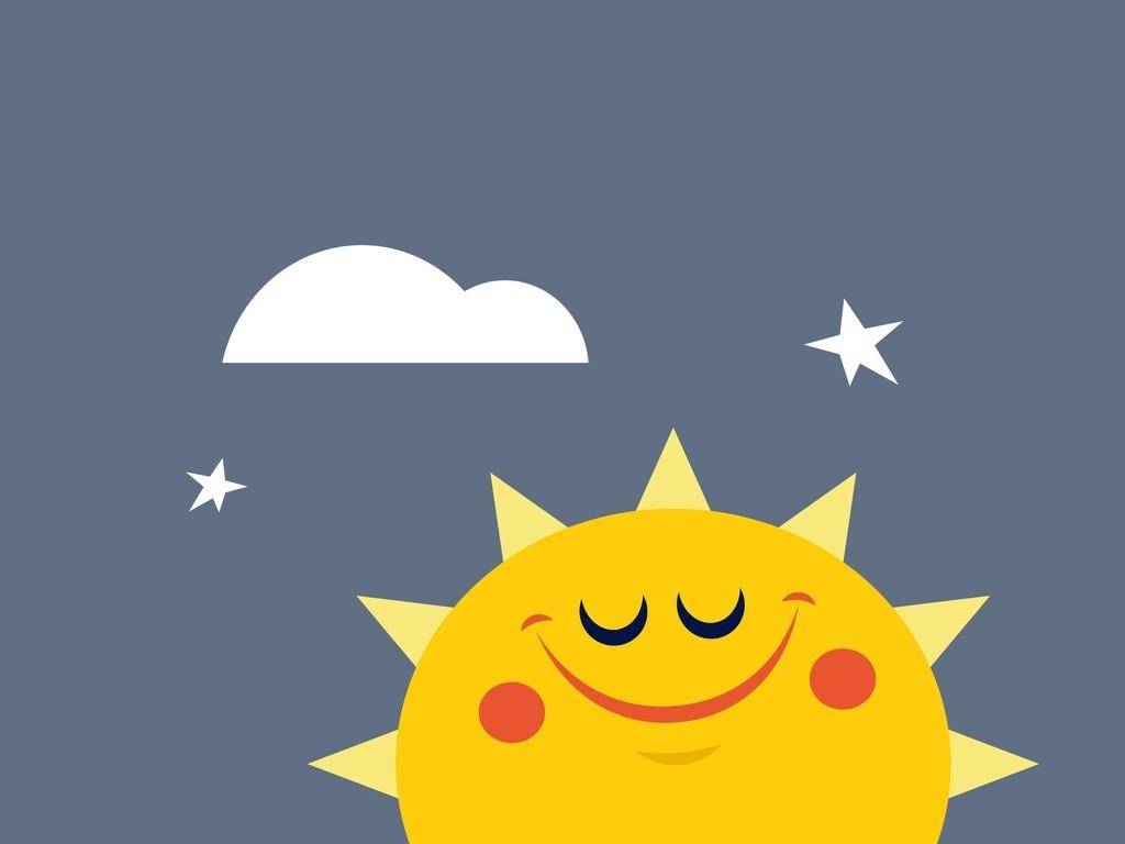 卡通图案太阳风景