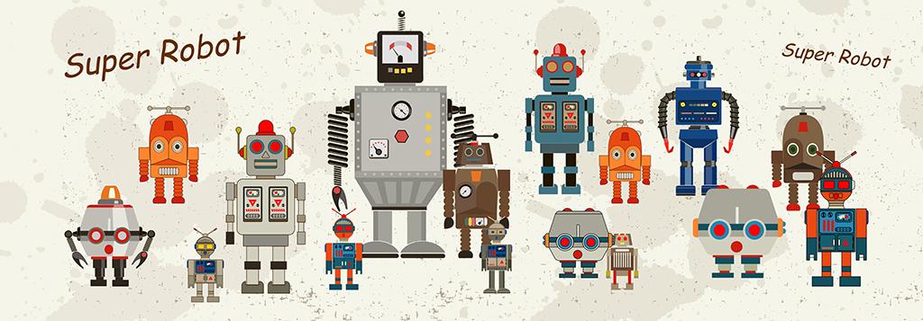 科幻机器人简笔画作品欣赏第7张
